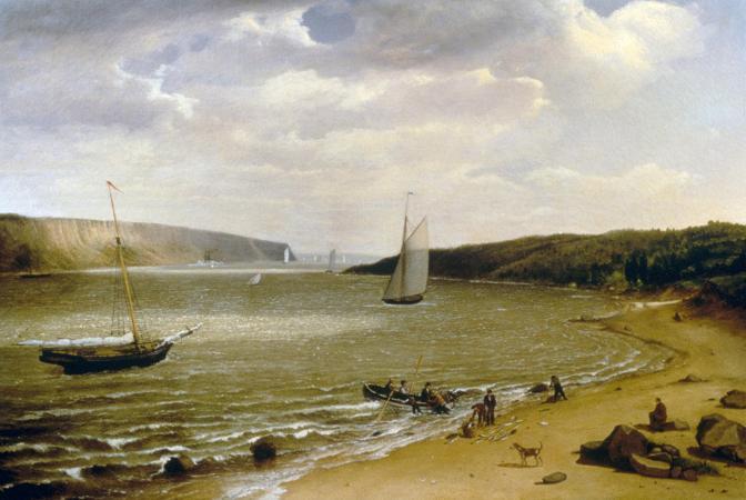Victor Gifford Audubon. View of Hudson River, 1843