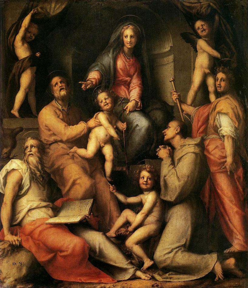 a review of madonna and child with saint francis and dominic and angels a painting by giulio cesare  Francesco brancati giulio cesare sacchetti in 1663 who built at his own expense the church of the madonna di altamura.